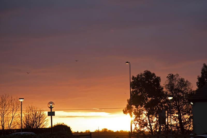 Sunrise in Long Sutton 09-03-2009)